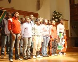 Bokomoso students at 1st Dream Breakfast in 2008