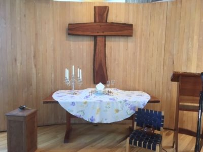 Altar installation for Easter 2017